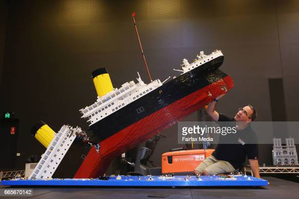 Ryan McNaught the only LEGO Certified Professional in the Southern Hemisphere puts the finishing touches on his LEGO version of The Titanic for the...