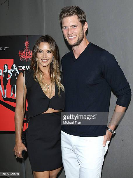 Ryan McPartlin and Danielle Kirlin arrive at the season 4 premiere of Lifetime's Devious Maids held at STK Los Angeles on June 2 2016 in Los Angeles...