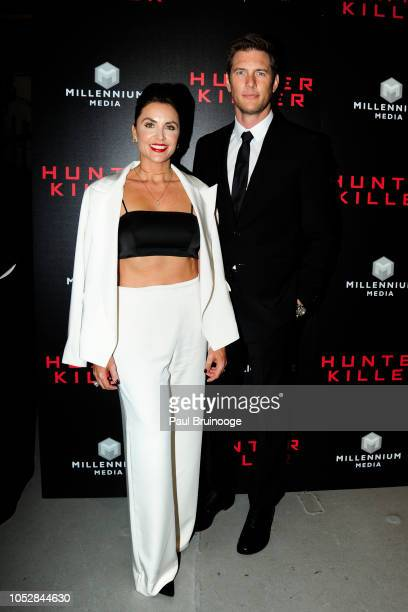 Ryan McPartlin and Danielle Kirlin attend Lionsgate With The Cinema Society Host The World Premiere Of Hunter Killer at Intrepid SeaAirSpace Museum...