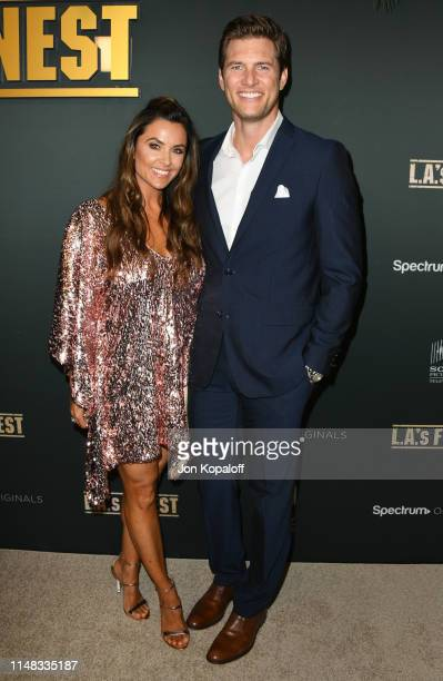 Ryan McPartlin and Danielle Kirlin attend the Premiere Of Spectrum's Originals LA's Finest on May 10 2019 in West Hollywood California