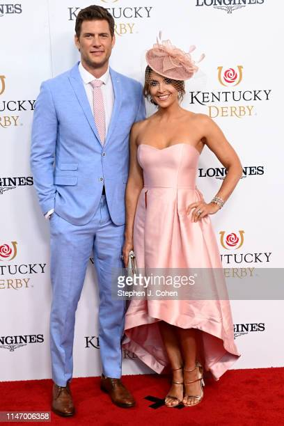 Ryan McPartlin and Danielle Kirlin attends the 145th Kentucky Derby at Churchill Downs on May 04 2019 in Louisville Kentucky