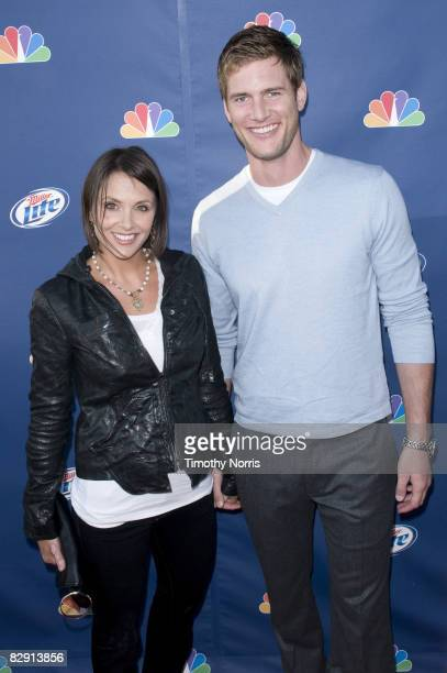 Ryan McPartlin and wife Danielle Kirlin arrive at NBC's Fall Premiere Party at Boulevard 3 on September 18 2008 in Los Angeles California