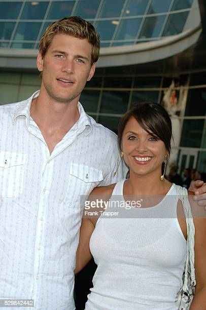 Ryan McPartlin and wife Danielle Kirlin arrive at the premiere of Must Love Dogs at the Cinerama Dome Theater