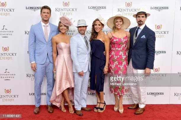 Ryan McPartlin Danielle Kirlin Howie Dorough Leigh Boniello Kevin Richards and Kristin Richardson attend the 145th Kentucky Derby at Churchill Downs...
