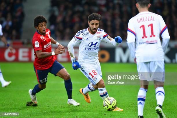 Ryan MENDES / Nabil FEKIR Lille / Lyon 27eme journee de Ligue 1 Photo Dave Winter / Icon Sport