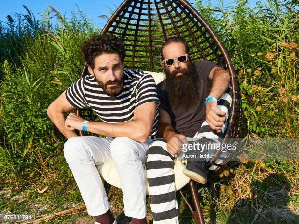 Ryan Merchant and Sebu Simonian of Capital Cities are photographed for Billboard Magazine on August 19, 2017 at the Billboard Hot 100 Music Festival...