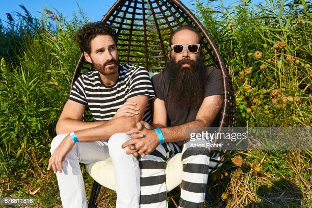 Ryan Merchant and Sebu Simonian of Capital Cities are photographed for Billboard Magazine on August 19 2017 at the Billboard Hot 100 Music Festival...