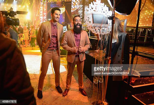 Ryan Merchant and Sebu Simonian of Capital Cities attend Dick Clark's New Year's Rockin' Eve with Ryan Seacrest 2014 on December 31, 2013 in Los...