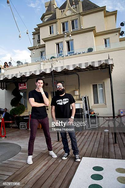 Ryan Merchant and Sebu Simonian of Capital Cities attend the ALT 98.7FM penthouse party concert series at The Historic Hollywood Tower on July 29,...