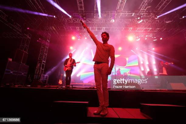Ryan Merchant of Capital Cities perform at the Mojave Tent during day 1 of the 2017 Coachella Valley Music Arts Festival at the Empire Polo Club on...