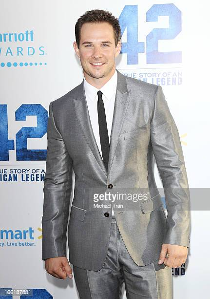 Ryan Merriman arrives at the Los Angeles premiere of '42' held at TCL Chinese Theatre on April 9 2013 in Hollywood California