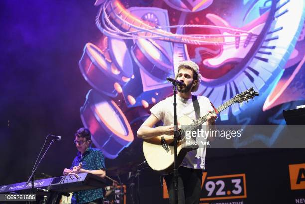 Ryan Met and Jack Met of AJR perform onstage at Not So Silent Night presented by Radiocom at Barclays Center on December 6 2018 in New York City