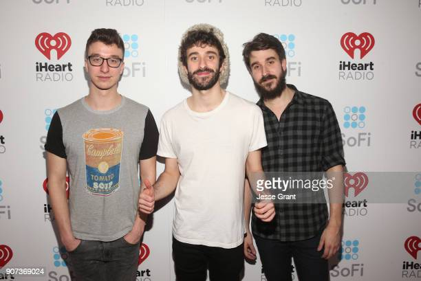 Ryan Met Jack Met and Adam Met of AJR attends iHeartRadio ALTer Ego 2018 at The Forum on January 19 2018 in Inglewood United States