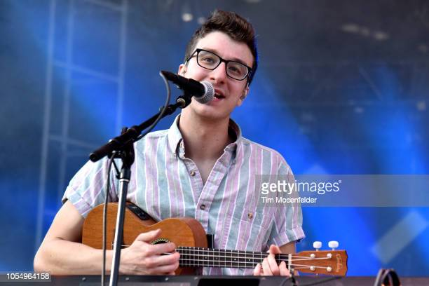 Ryan Met of AJR performs during the 2018 Voodoo Music Arts Experience on October 28 2018 in New Orleans Louisiana