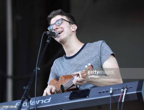 Ryan Met of AJR performs on Downtown Stage during the 2018 Life Is Beautiful Festival on September 22 2018 in Las Vegas Nevada