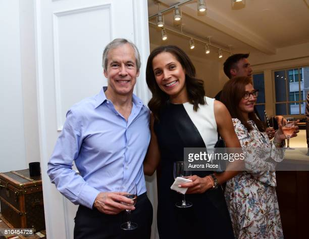 Ryan Meyer and EllenBlair Chube attend Huntsman's New NYC PiedaTerre Opening at 130 West 57th st on June 27 2017 in New York City