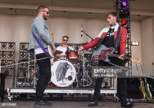 Ryan Meyer and Johnny Stevens of Highly Suspect performs during the 2017 Lollapalooza Day Three at Grant Park on August 5 2017 in Chicago Illinois