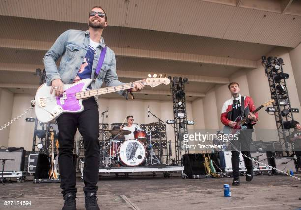 Ryan Meyer of Highly Suspect performs during the 2017 Lollapalooza Day Three at Grant Park on August 5 2017 in Chicago Illinois
