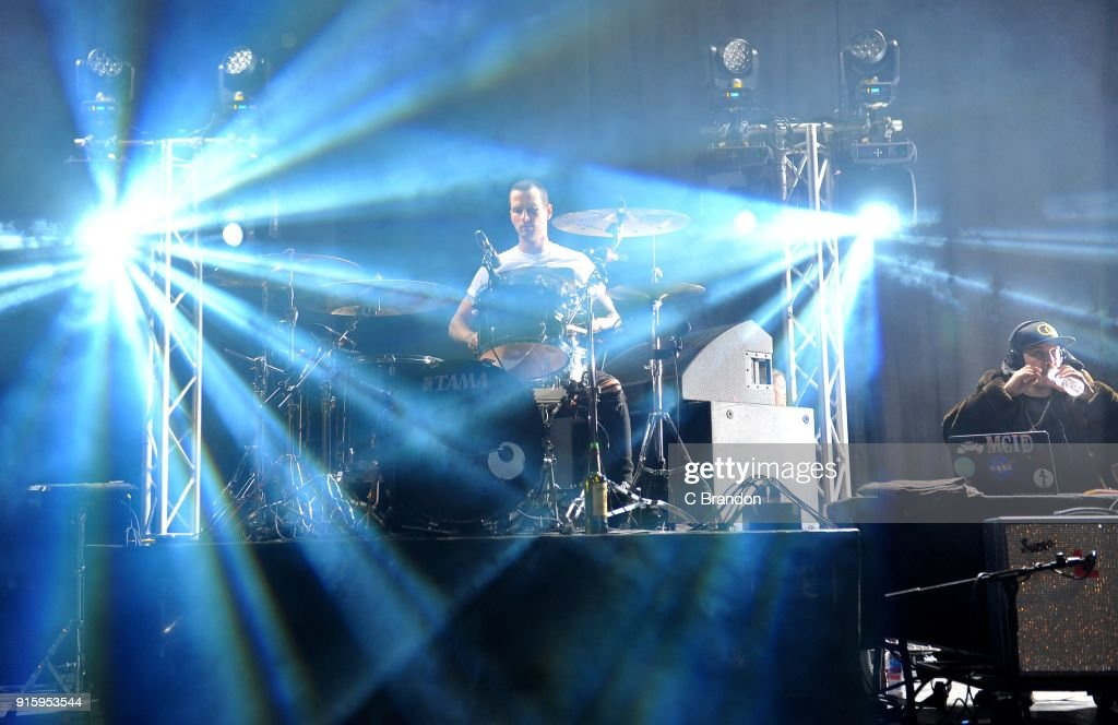 Ryan Meyer of Highly Suspect performs on stage at the Forum on February 8, 2018 in London, England.