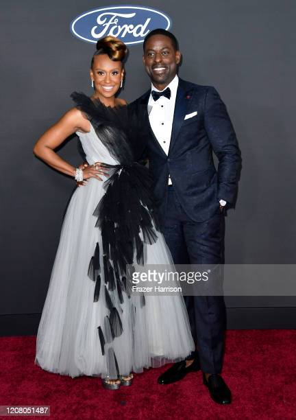 Ryan Michelle Bathé and Sterling K Brown attend the 51st NAACP Image Awards Presented by BET at Pasadena Civic Auditorium on February 22 2020 in...