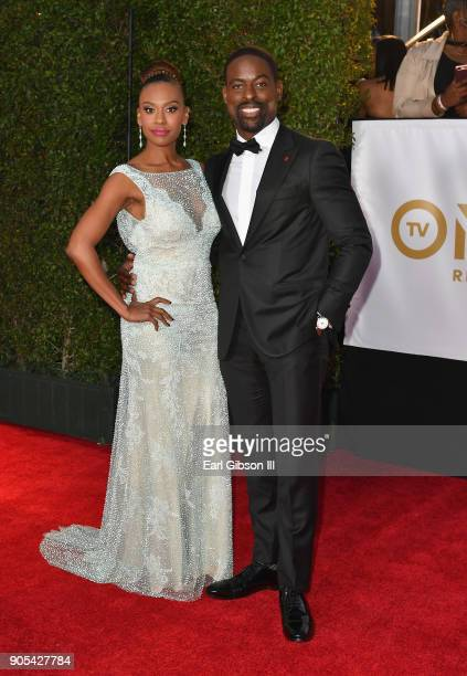 Ryan Michelle Bathe and Sterling K Brown at the 49th NAACP Image Awards on January 15 2018 in Pasadena California