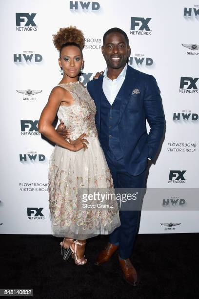 Ryan Michelle Bathe and Sterling K Brown attend FX and Vanity Fair Emmy Celebration at Craft on September 16 2017 in Century City California