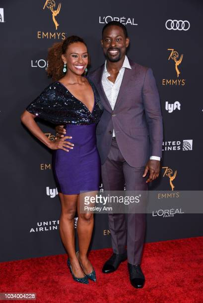 Ryan Michelle Bathe and Sterling K Brown attend Television Academy Honors Emmy Nominated Performers Arrivals at Wallis Annenberg Center for the...