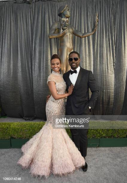 Ryan Michelle Bathe and Sterling K Brown attend the 25th Annual Screen ActorsGuild Awards at The Shrine Auditorium on January 27 2019 in Los Angeles...