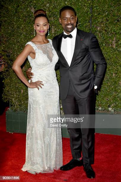 Ryan Michelle Bathe and Sterling K Brown attend the 49th NAACP Image Awards Arrivals at Pasadena Civic Auditorium on January 15 2018 in Pasadena...