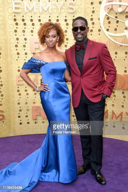 Ryan Michelle Bathe and Sterling K Brown attend the 71st Emmy Awards at Microsoft Theater on September 22 2019 in Los Angeles California