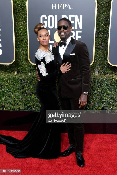 Ryan Michelle Bathe and Sterling K Brown attend the 76th Annual Golden Globe Awards at The Beverly Hilton Hotel on January 6 2019 in Beverly Hills...