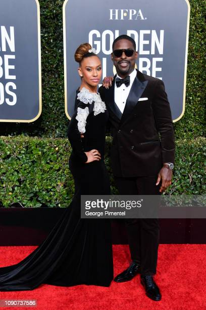 Ryan Michelle Bathe and Sterling K Brown attend the 76th Annual Golden Globe Awards held at The Beverly Hilton Hotel on January 06 2019 in Beverly...