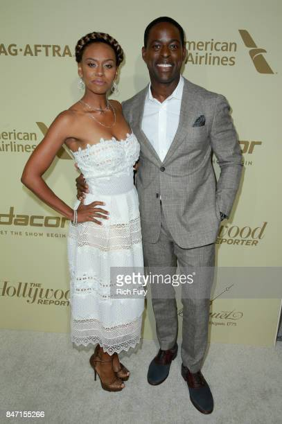 Ryan Michelle Bathe and Sterling K Brown attend The Hollywood Reporter and SAGAFTRA Inaugural Emmy Nominees Night presented by American Airlines...