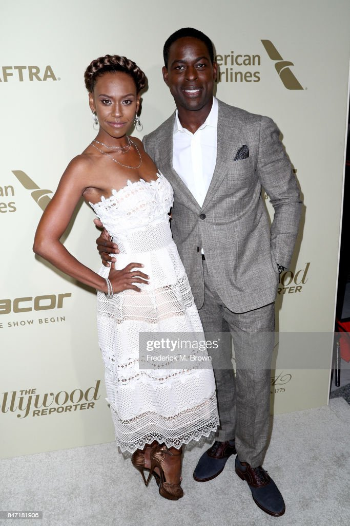 Ryan Michelle Bathe (L) and Sterling K. Brown attend The Hollywood Reporter and SAG-AFTRA Inaugural Emmy Nominees Night presented by American Airlines, Breguet, and Dacor at the Waldorf Astoria Beverly Hills on September 14, 2017 in Beverly Hills, California.