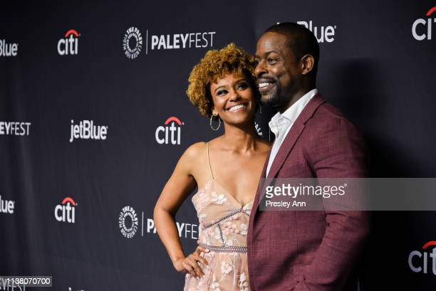 Ryan Michelle Bathe and Sterling K Brown attend The Paley Center For Media's 2019 PaleyFest LA This Is Us at Dolby Theatre on March 24 2019 in...