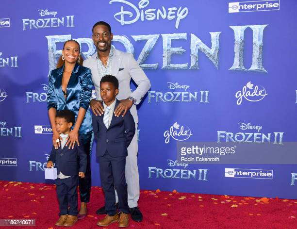 Ryan Michelle Bathe and Sterling K Brown attend the Premiere of Disney's Frozen 2 at Dolby Theatre on November 07 2019 in Hollywood California