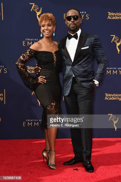 Ryan Michelle Bathe and Sterling K Brown attends the 2018 Creative Arts Emmy Awards at Microsoft Theater on September 8 2018 in Los Angeles California