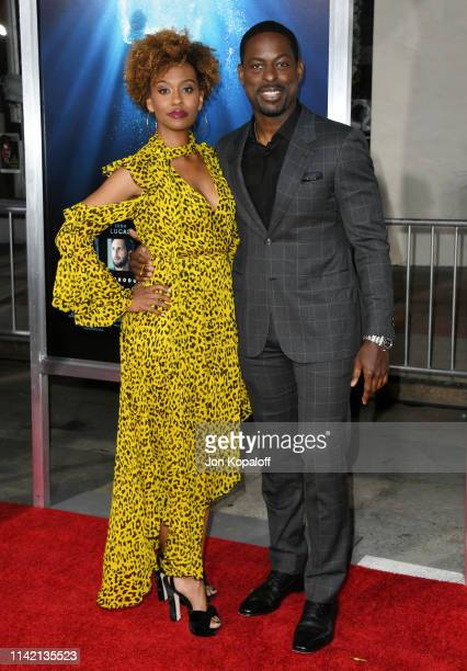 Ryan Michelle Bathe and Sterling K Brown attends the premiere of 20th Century Fox's Breakthrough at Westwood Regency Theater on April 11 2019 in Los...