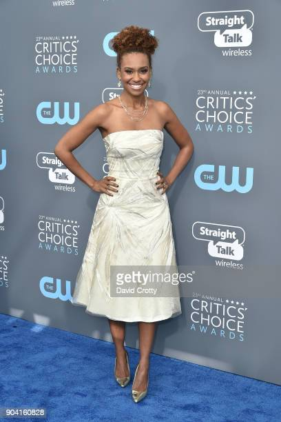 Ryan Michelle Bathe attends The 23rd Annual Critics' Choice Awards Arrivals at The Barker Hanger on January 11 2018 in Santa Monica California