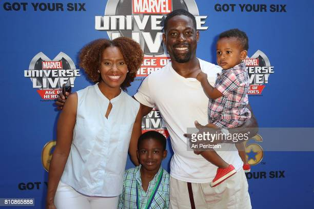 Ryan Michelle Bathe son Andrew Actor Sterling K Brown and son Amare arrive at Marvel Universe LIVE Age Of Heroes World Premiere Celebrity Red Carpet...