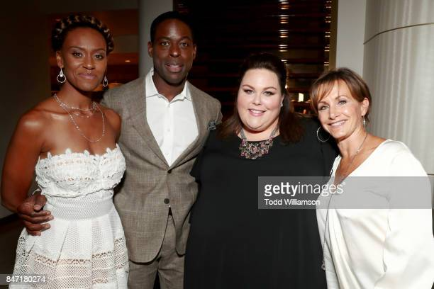 Ryan Michelle Bathe Sterling K Brown Chrissy Metz and SAGAFTRA president Gabrielle Carteris attend The Hollywood Reporter and SAGAFTRA Inaugural Emmy...
