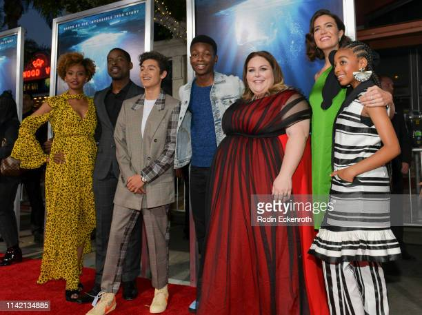 Ryan Michelle Bathe Sterling K Brown Marcel Ruiz Niles Fitch Chrissy Metz Mandy Moore and Eris Baker attend the premiere of 20th Century Fox's...