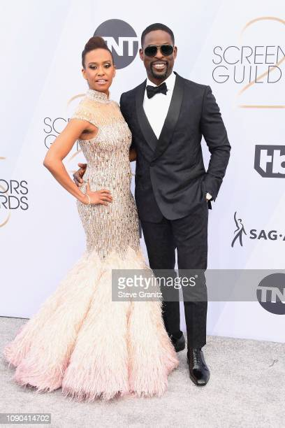 Ryan Michelle Batheand Sterling K. Brown attend the 25th Annual Screen ActorsGuild Awards at The Shrine Auditorium on January 27, 2019 in Los...