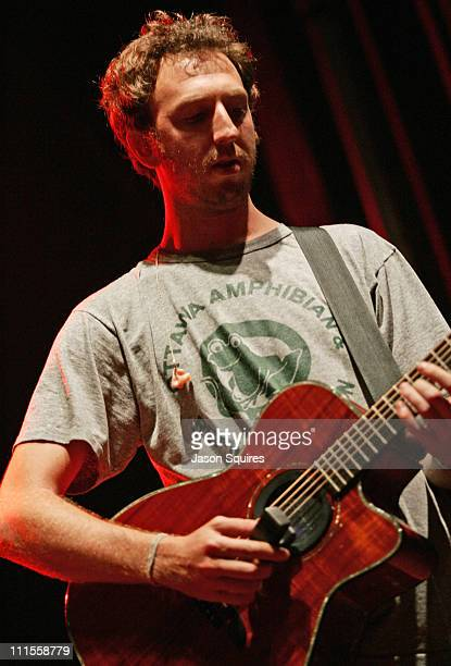 Ryan Miller of Guster during Guster performs in Kansas City on July 17 2004 at City Market in Kansas City Missouri United States