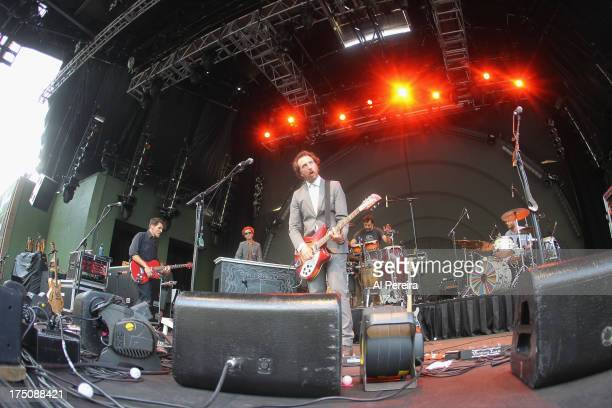 Ryan Miller of Guster performs when the Barenaked Ladies headline a benefit concert for Celebrate Brooklyn at the Prospect Park Bandshell on July 30...