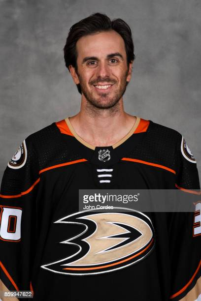 Ryan Miller of the Anaheim Ducks poses for his official headshot for the 20172018 season on September 7 2017 at Honda Center in Anaheim California