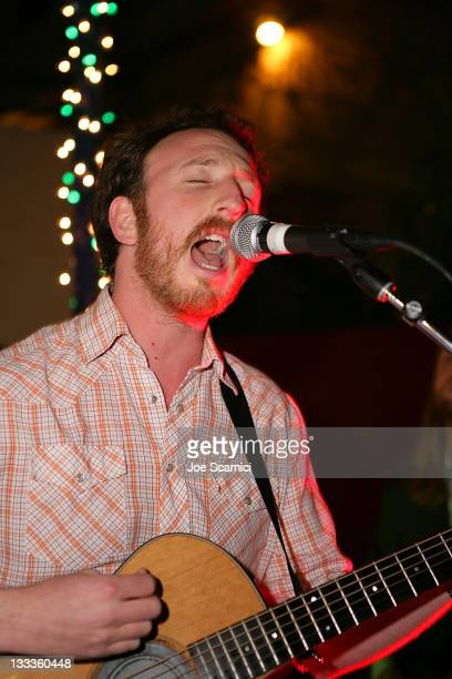 Ryan Miller performs at Green Music Group Celebrates Its Official Launch Party at the Janes House on January 30 2010 in Hollywood California