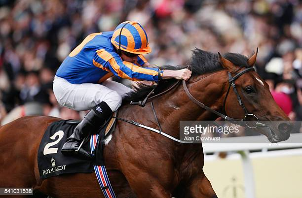 Ryan Moore and Churchill land the Chesham Stakes on day 5 of Royal Ascot at Ascot Racecourse on June 18 2016 in Ascot England