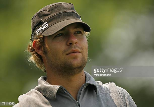 Ryan Moore during the second round of the Memorial Tournament Presented by Morgan Stanley held at Muirfield Village Golf Club in Dublin, Ohio, on May...