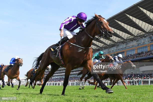 Ryan Moore on Highland Reel wins the Prince of Wales's Stakes on Day Two of Royal Ascot at Ascot Racecourse on June 21, 2017 in Ascot, England.